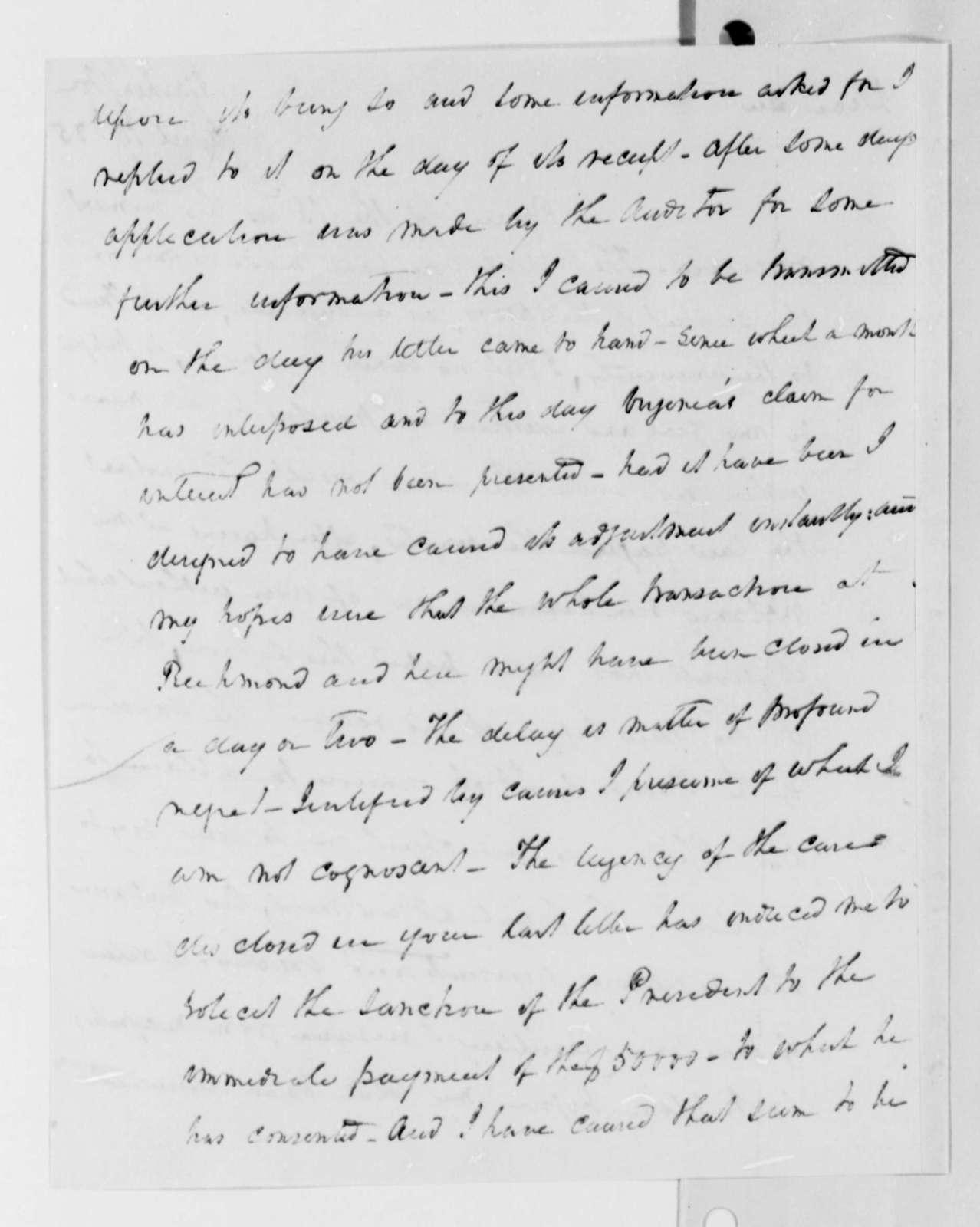 James Barbour to Thomas Jefferson, April 19, 1825
