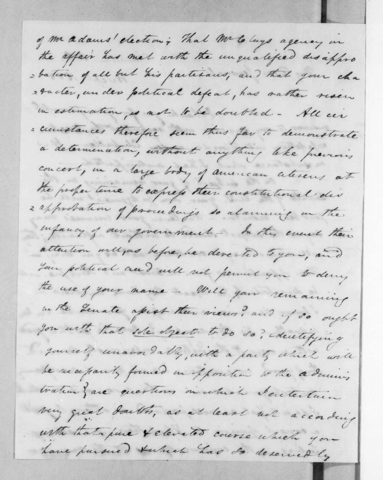 James Gadsden to Andrew Jackson, September 15, 1825