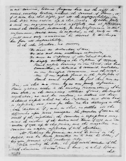 James H. Causten to Thomas Jefferson, October 11, 1825