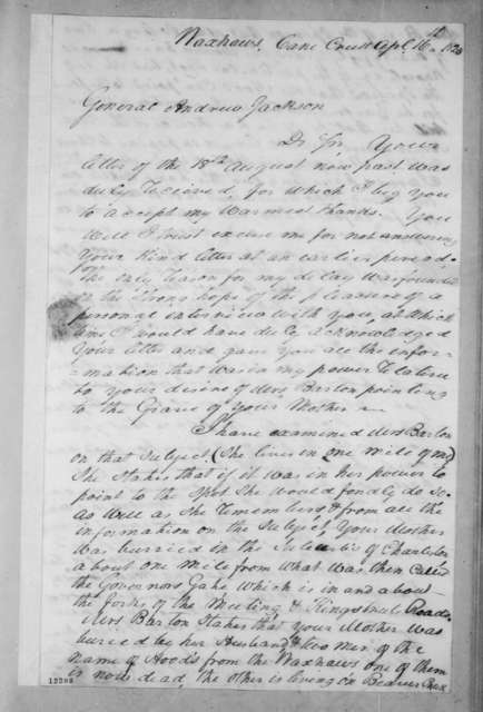James Hervey Witherspoon to Andrew Jackson, April 16, 1825
