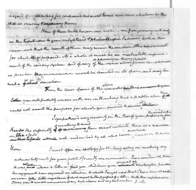 James Madison to Edward Livingston, December 27, 1825.