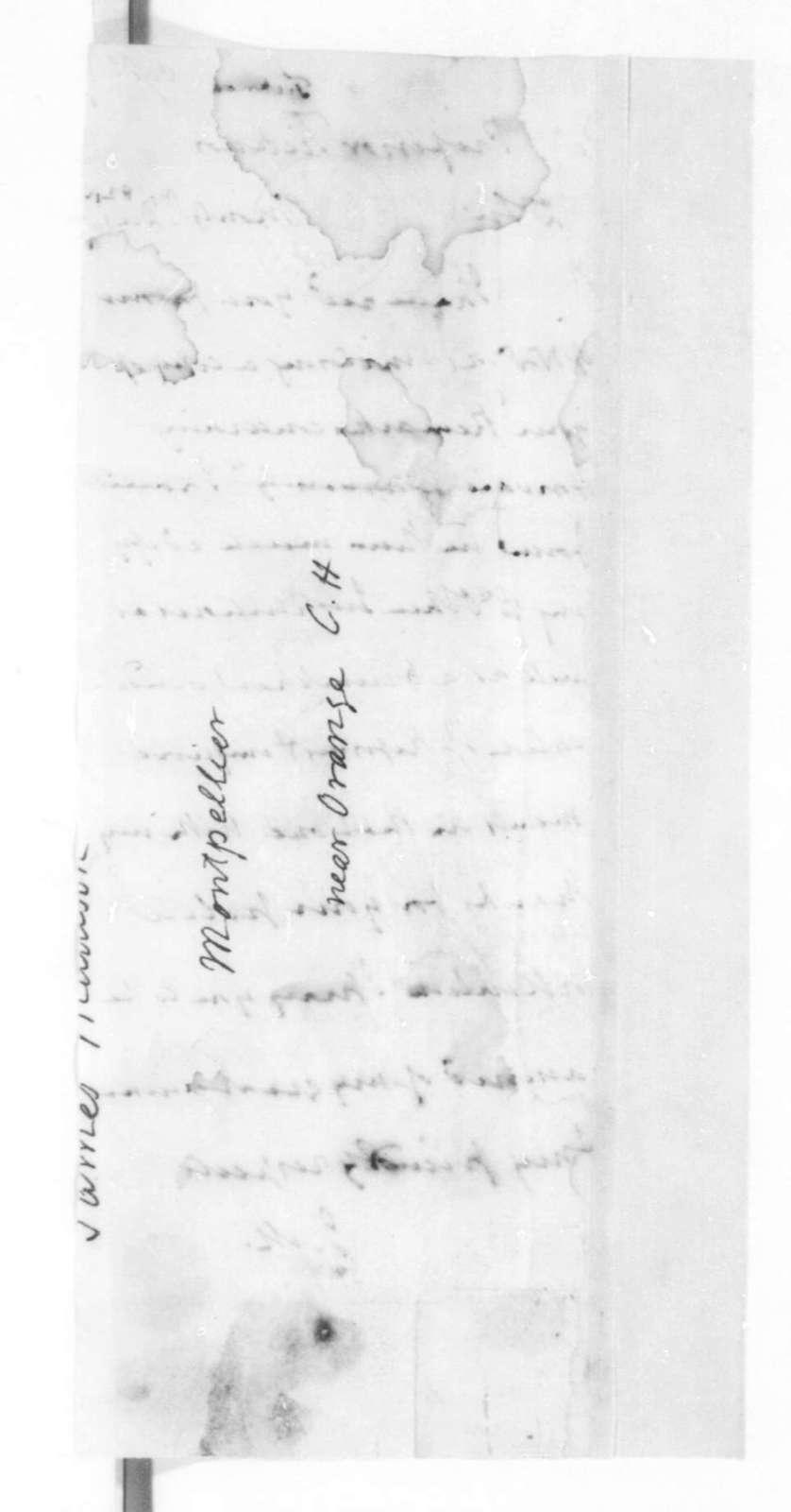 James Madison to George Ticknor, December 1, 1825.