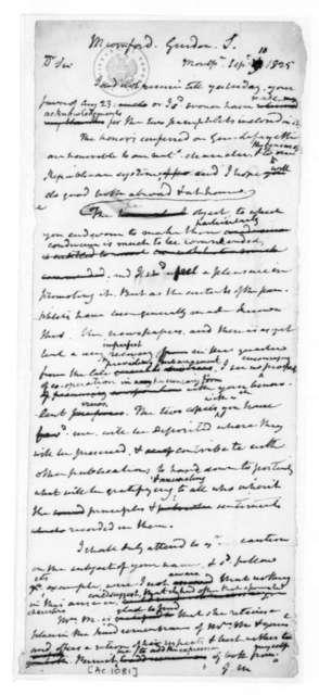 James Madison to Gordon S. Mumford, September 10, 1825.