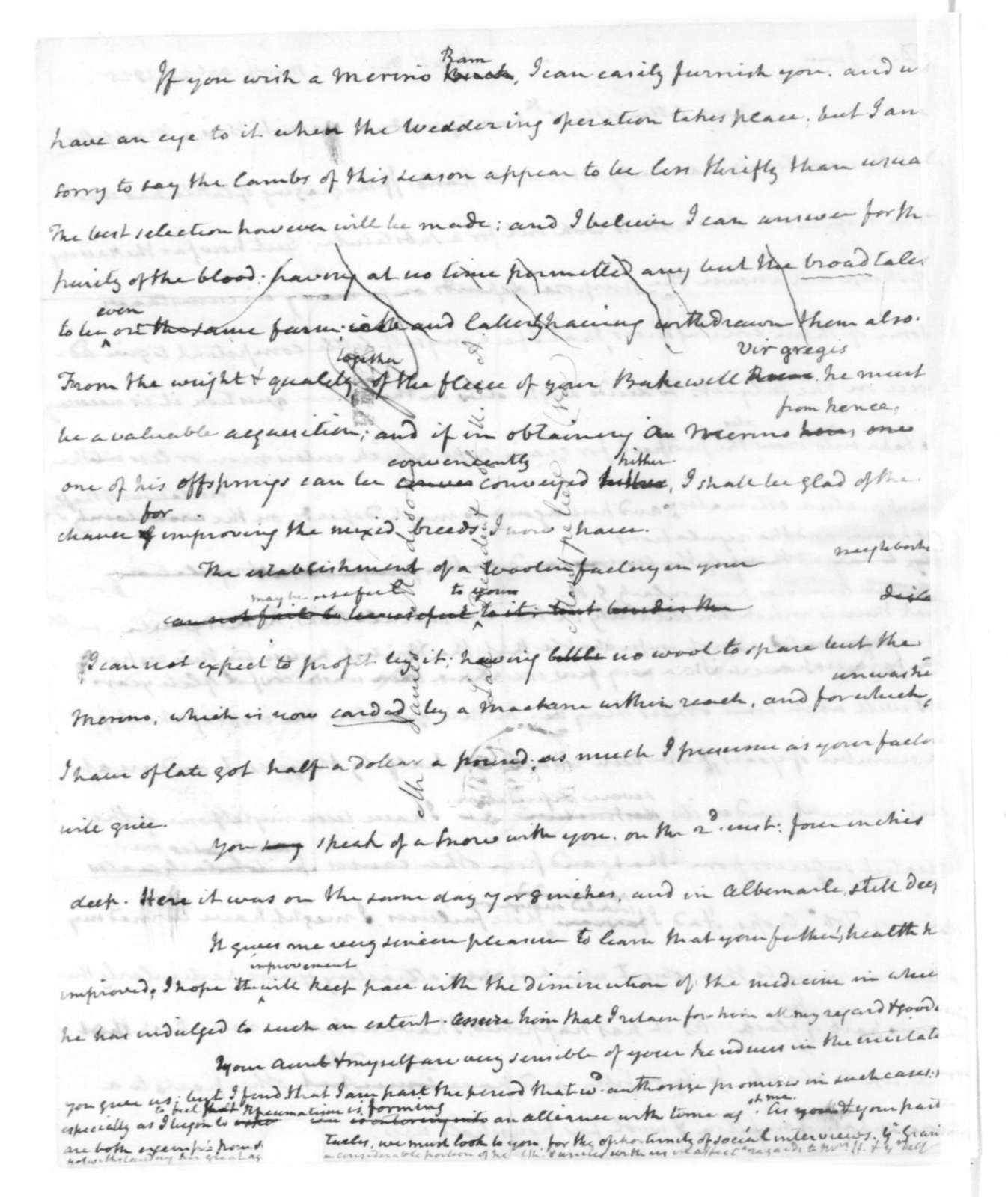 James Madison to I. M. Hite, April 23, 1825.
