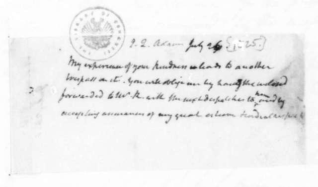 James Madison to John Quincy Adams, July 26, 1825.