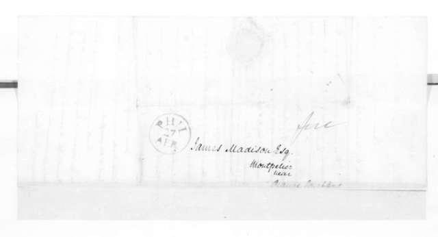 James Madison to Mathew Carey, May 12, 1825.