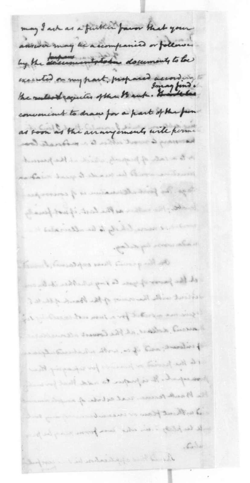 James Madison to Nicholas Biddle, April 16, 1825.