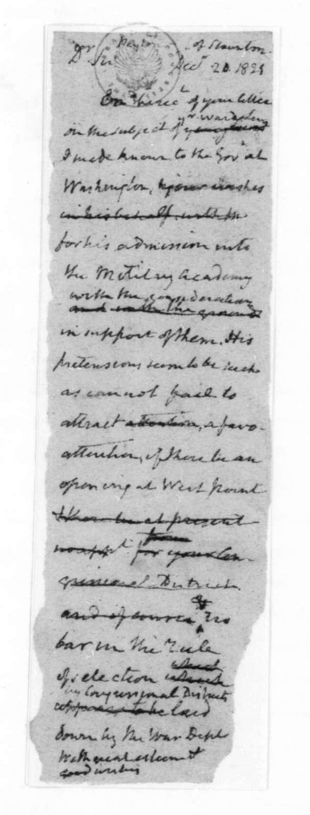James Madison to Peyton, December 20, 1825.