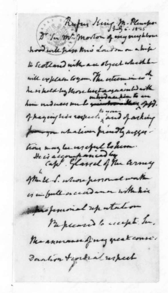 James Madison to Rufus King, July 6, 1825.