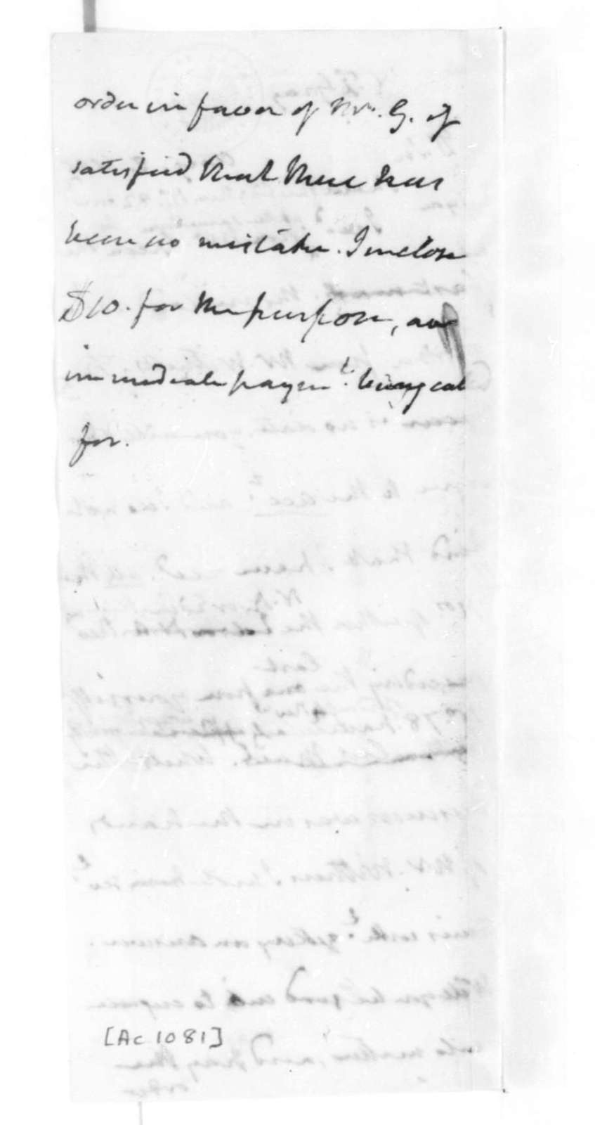 James Madison to William F. Gray, August 8, 1825.