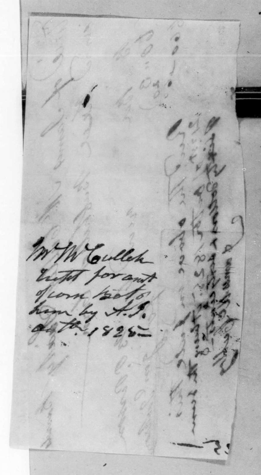 James McCully to Andrew Jackson, October 21, 1825