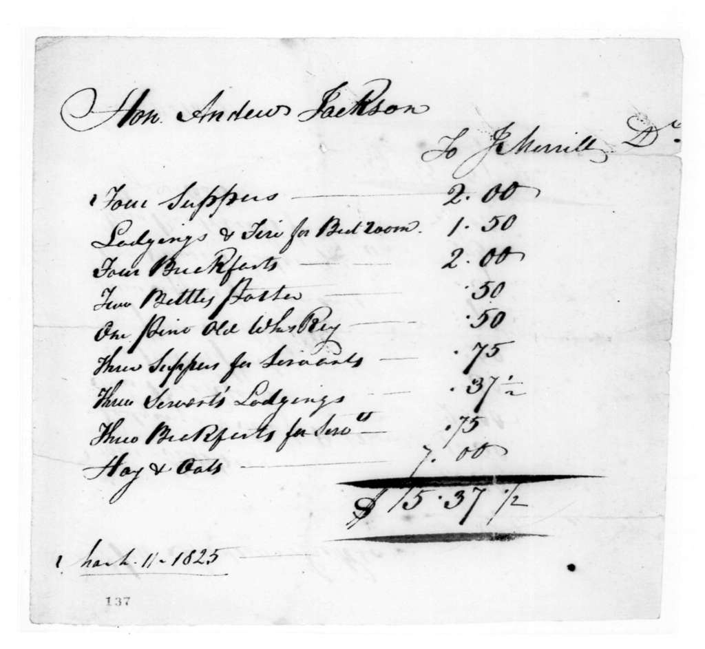 James Merrill to Andrew Jackson, March 11, 1825