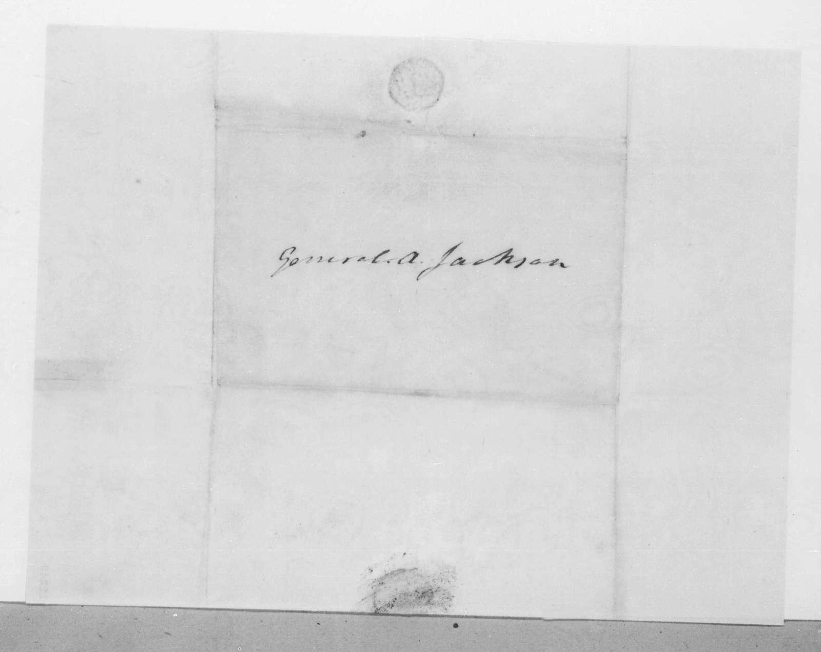 James Monroe to Andrew Jackson, February 26, 1825