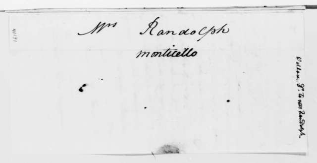 James W. Wallace to Martha Jefferson Randolph, October 14, 1825