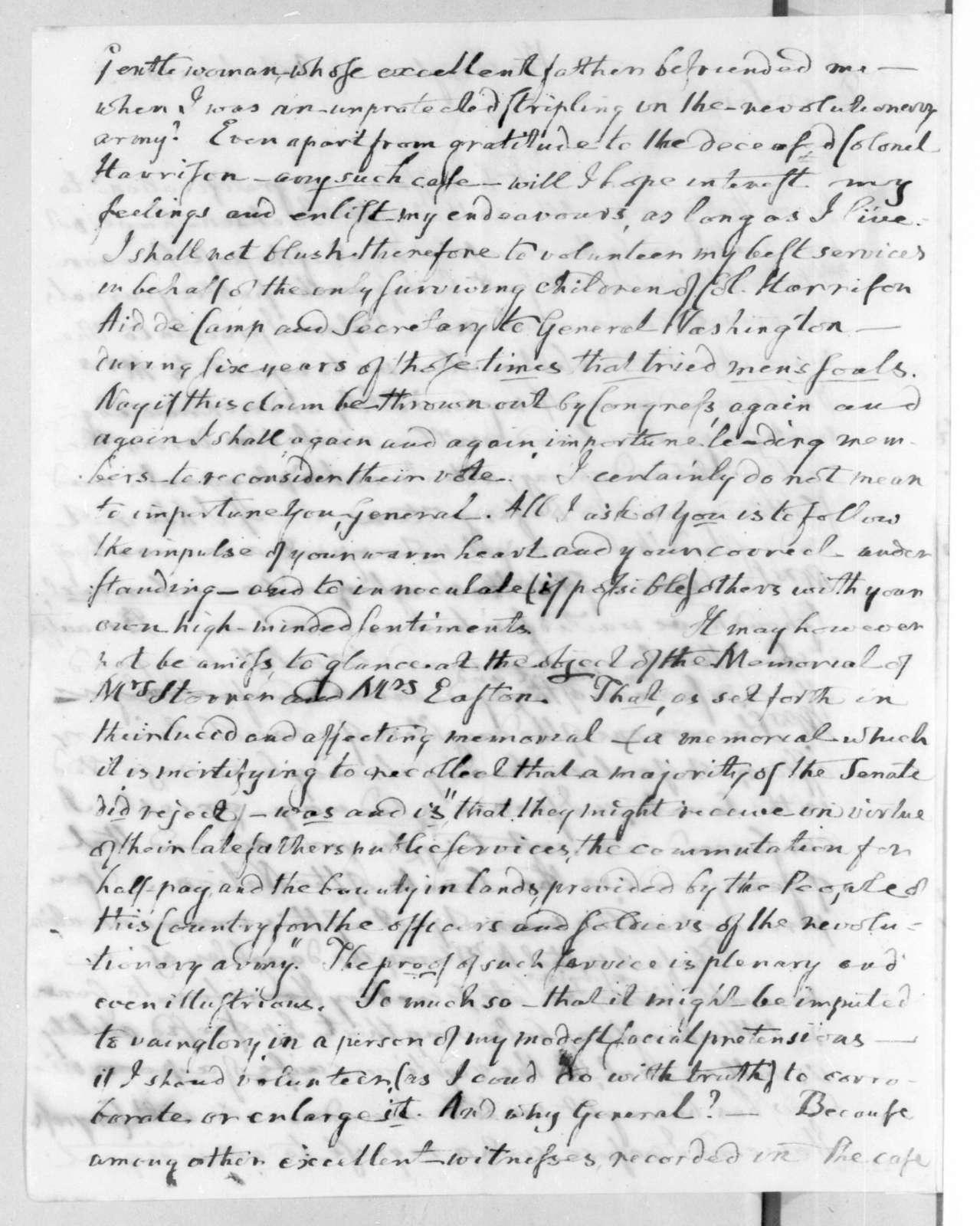 John Browne Cutting to Andrew Jackson, October 24, 1825