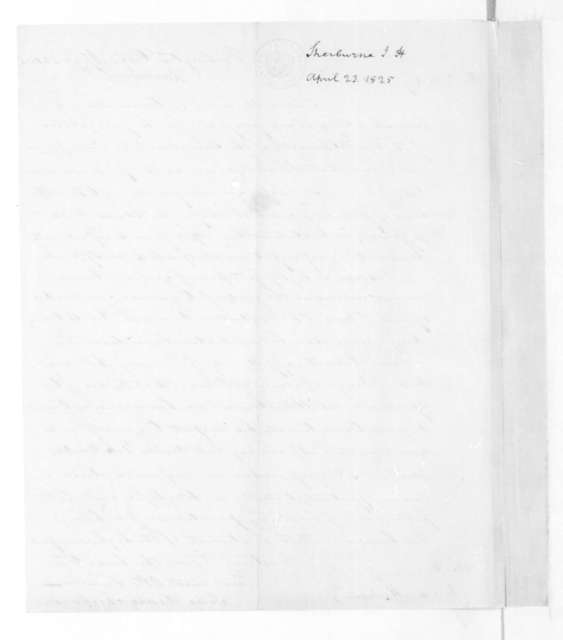 John Henry Sherburne to James Madison, April 23, 1825.