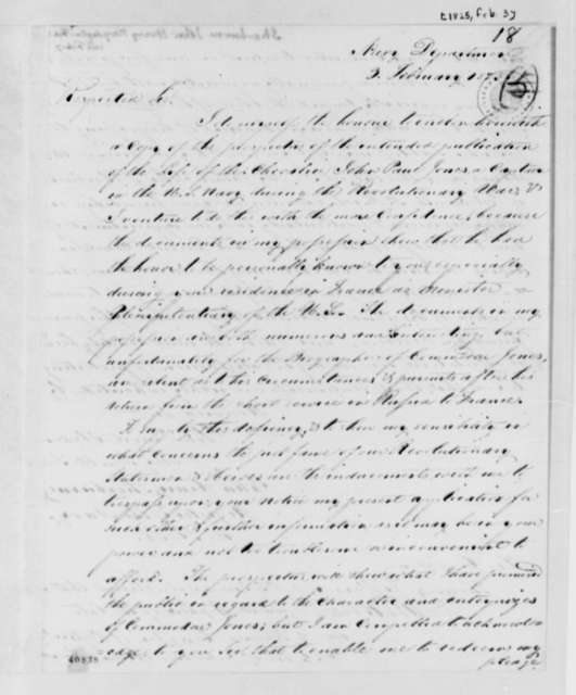 John Henry Sherburne to Thomas Jefferson, February 3, 1825