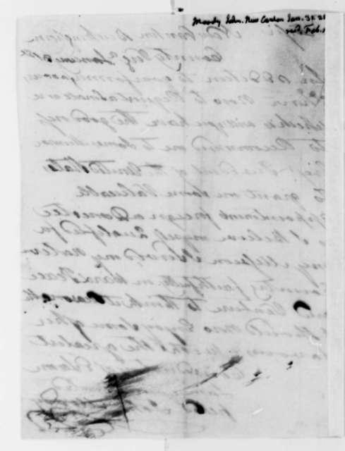 John Moody to Thomas Jefferson, January 31, 1825