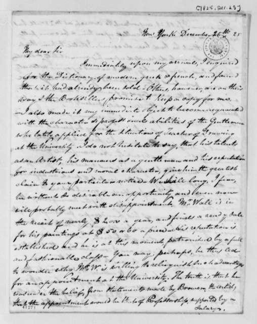 John Patten Emmet to Thomas Jefferson, December 25, 1825