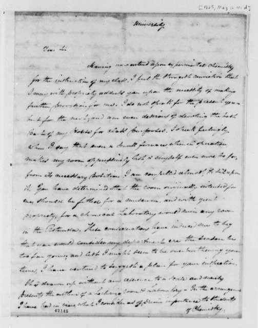 John Patten Emmet to Thomas Jefferson, May 12, 1825, with Drawing