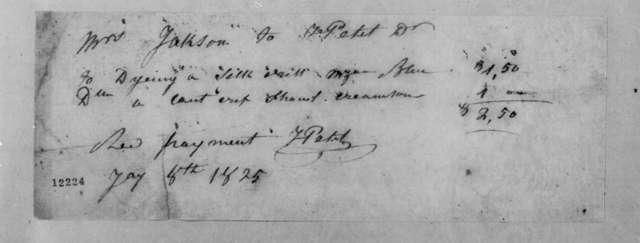 John Petit to Rachel Donelson Jackson, January 8, 1825