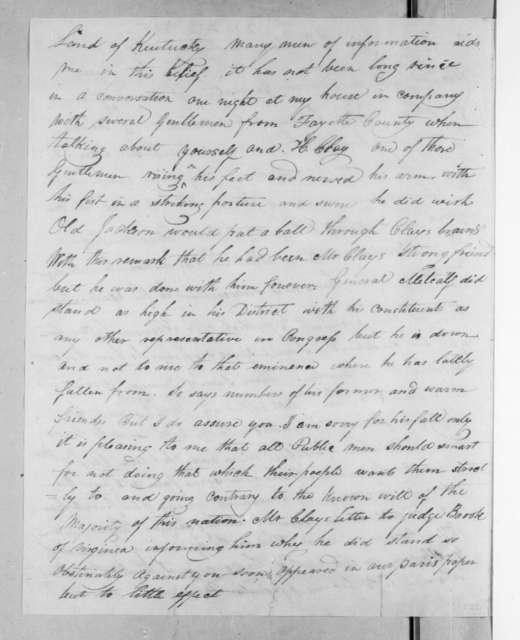 John Spencer Hitt to Andrew Jackson, April 22, 1825
