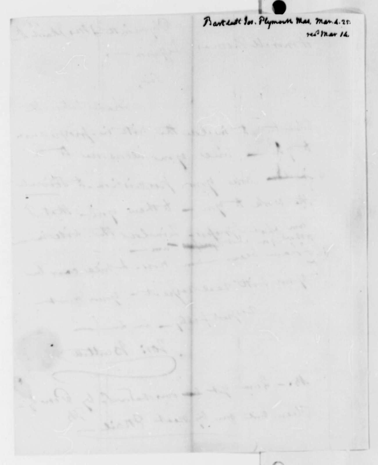 Joseph Bartlett to Thomas Jefferson, March 4, 1825