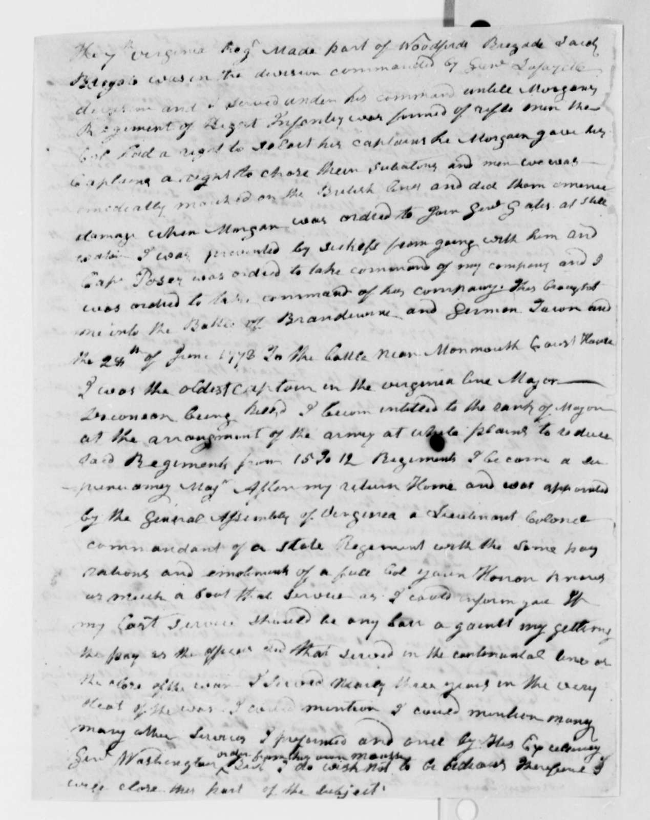 Joseph Crockett to Thomas Jefferson, November 1, 1825, with Copy of Letter from Lafayette to Crockett Dated September 3