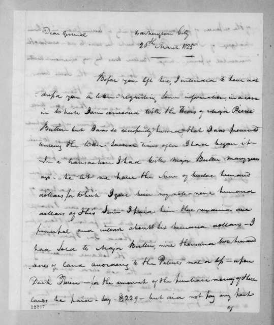 Joseph Inslee Anderson to Andrew Jackson, March 26, 1825
