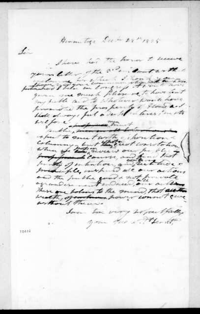 Joseph Maunsel White to Andrew Jackson, December 29, 1825