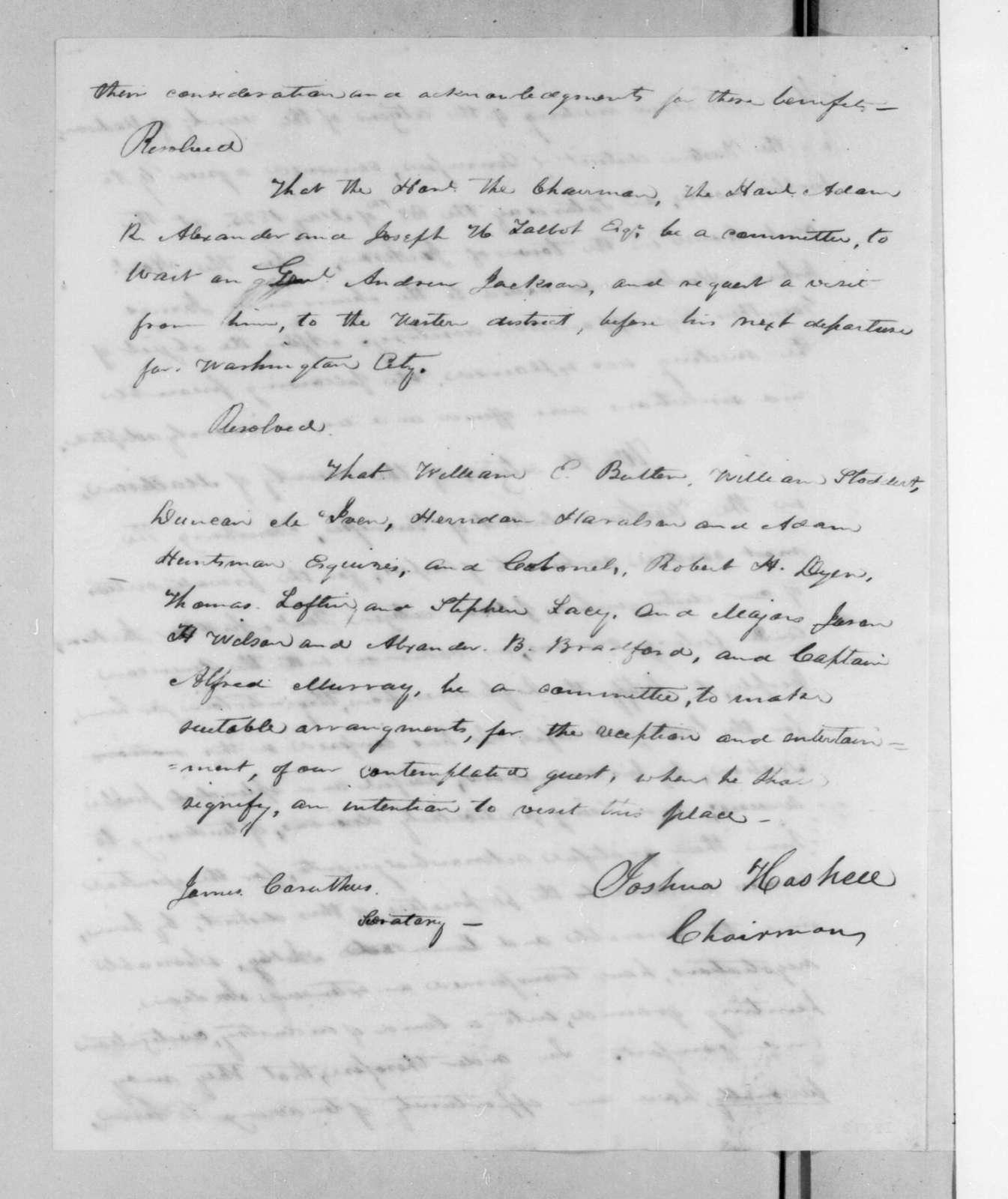 Joshua Haskell, May 28, 1825