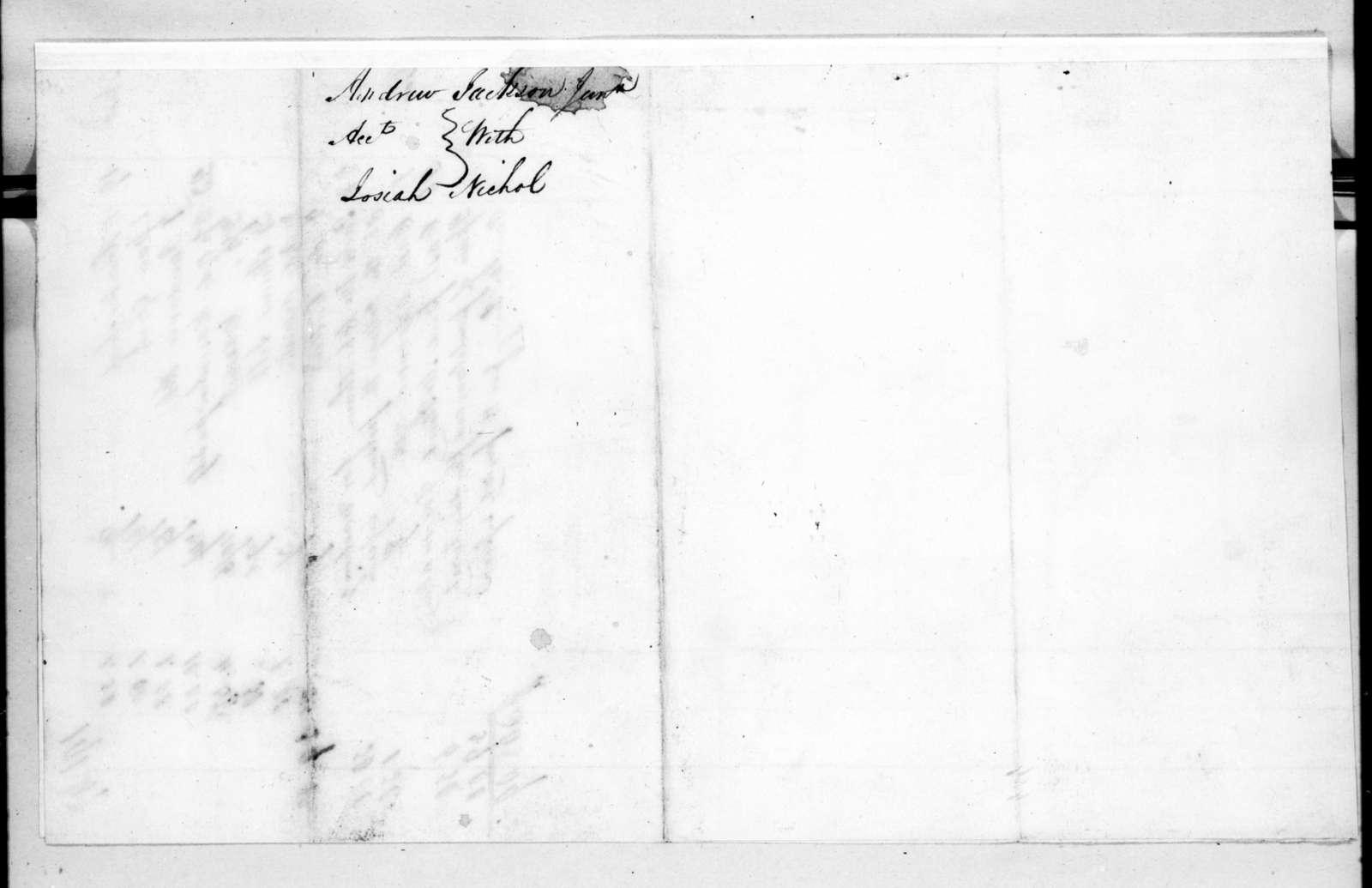 Josiah Nichol to Andrew Jackson, December 26, 1825