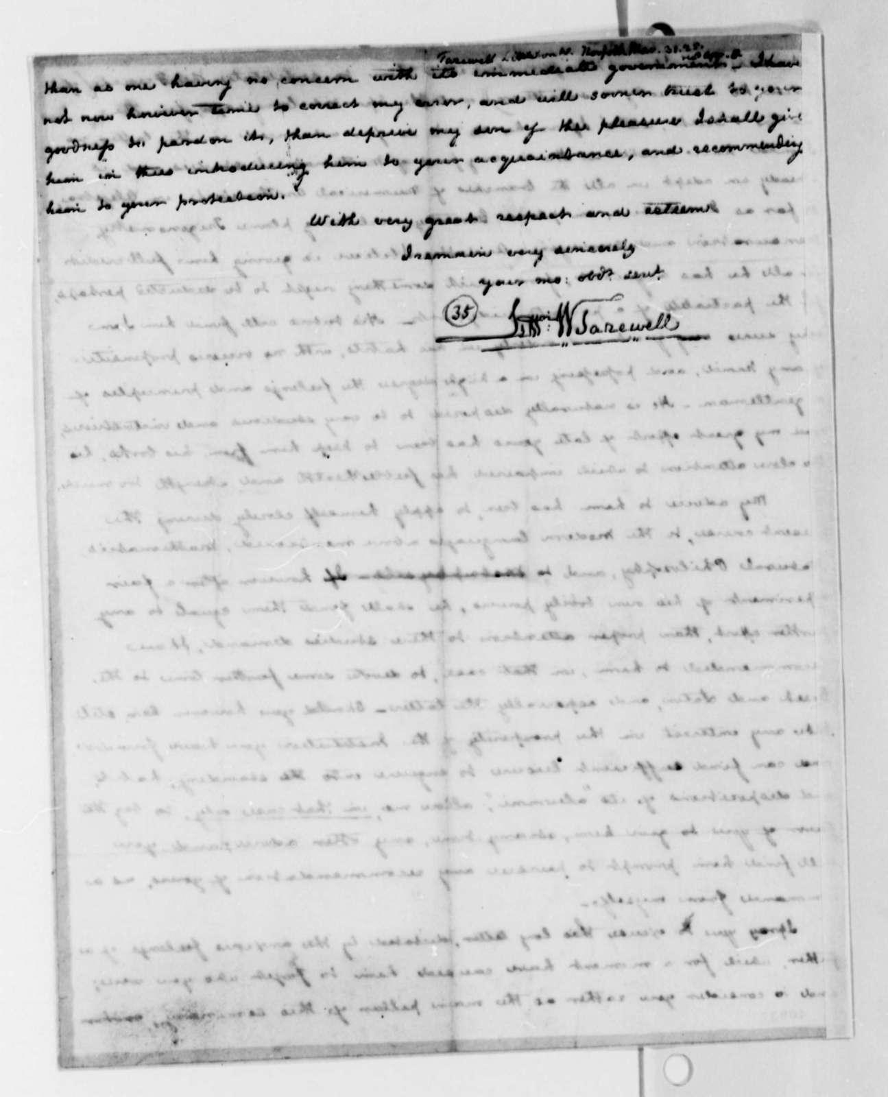 Littleton Waller Tazewell to Thomas Jefferson, March 31, 1825