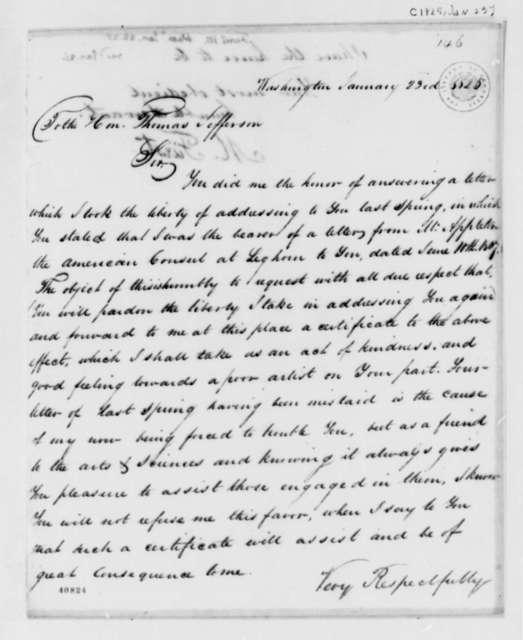 M. Furst to Thomas Jefferson, January 23, 1825