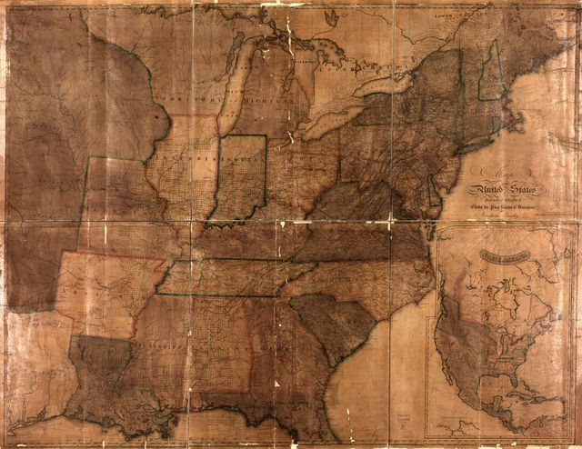 Map of the United States : intended chiefly to exhibit the Post Roads & distances.