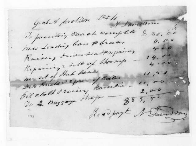 N. Davidson to Andrew Jackson, March 10, 1825