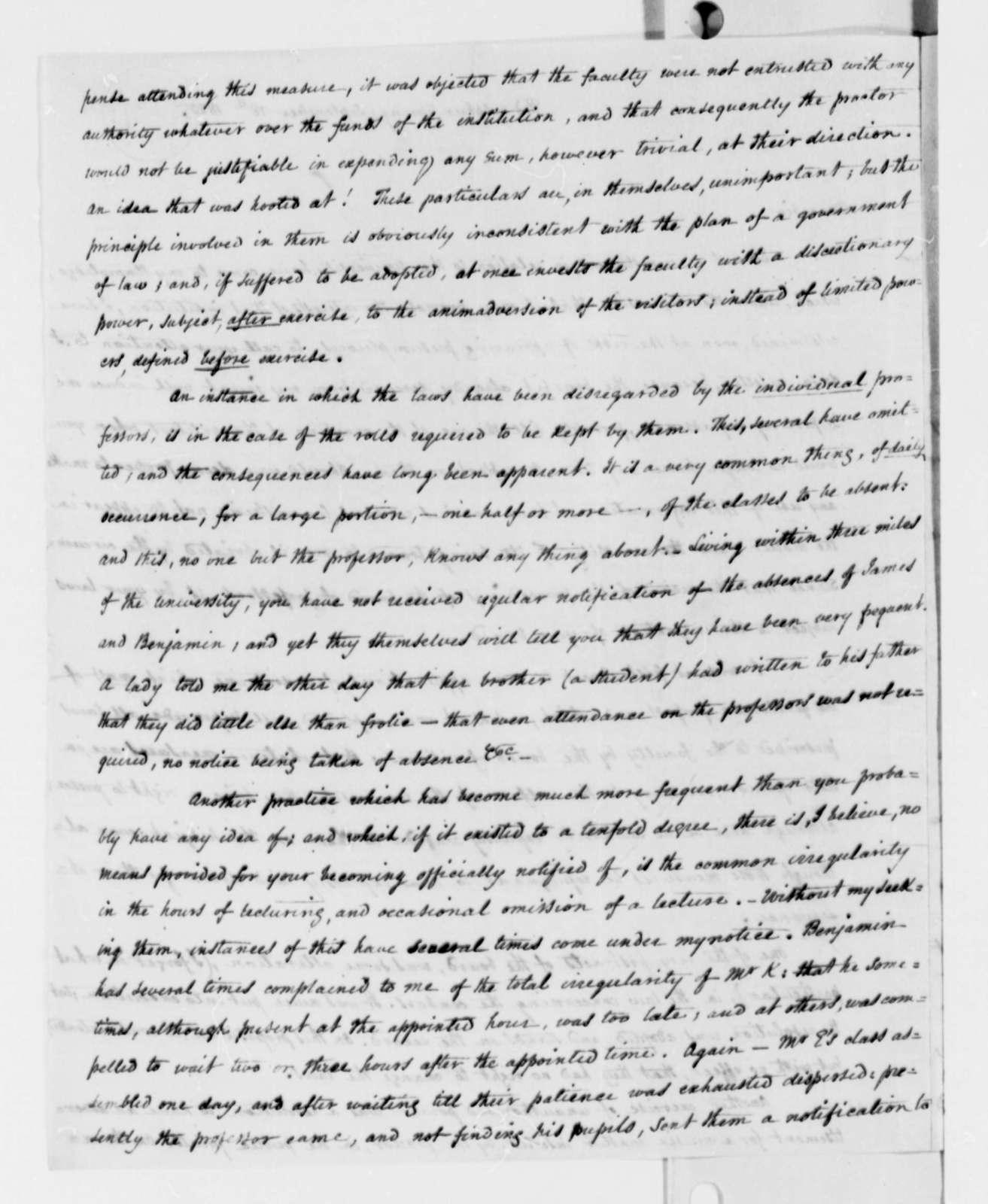 Nicholas P. Trist to Thomas Jefferson, September 18, 1825