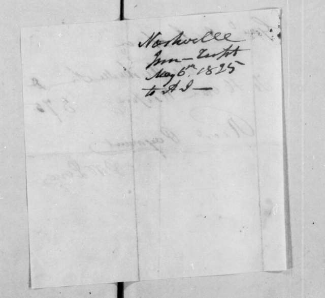 P. M. Love to Andrew Jackson, May 6, 1825