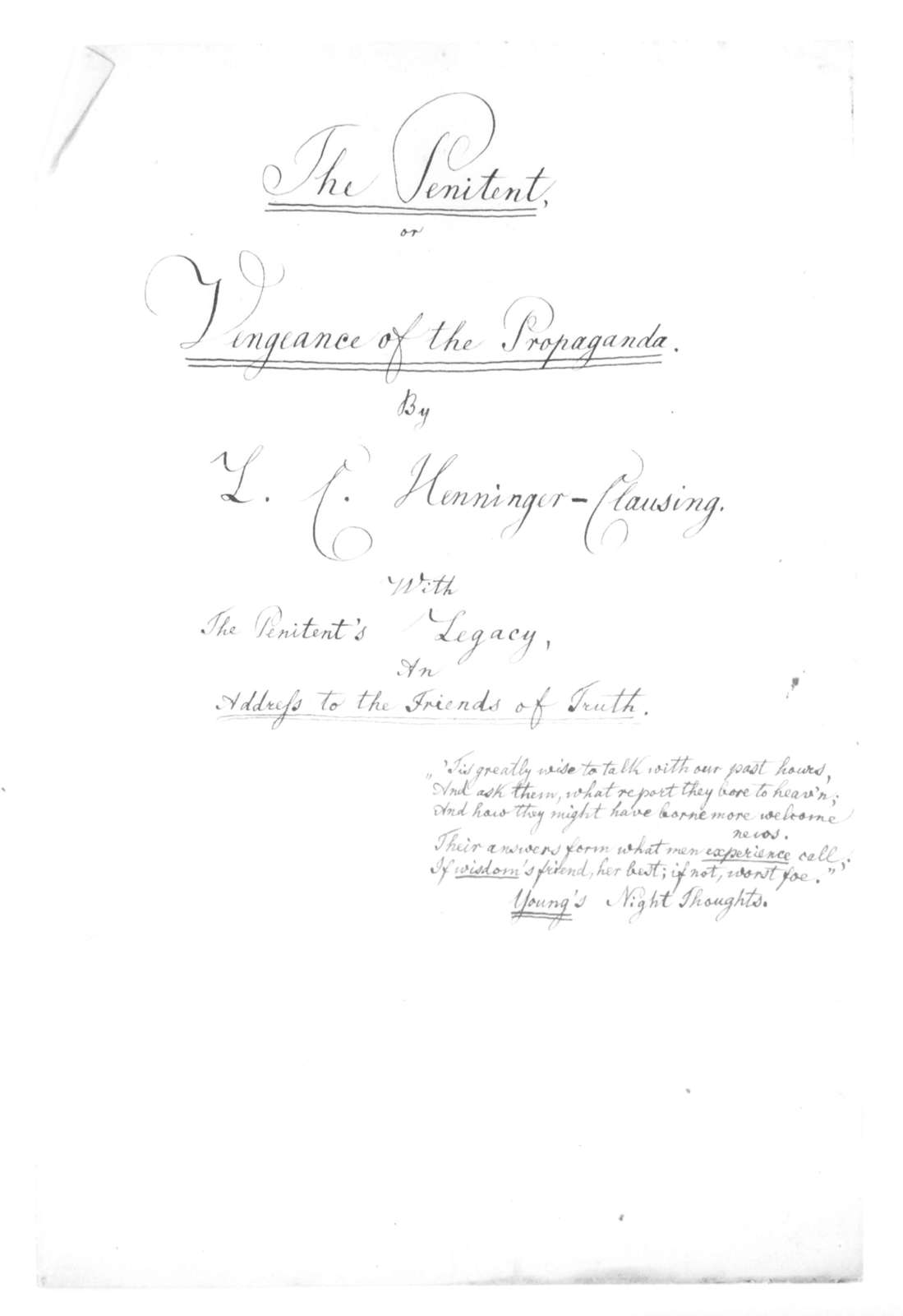 Papers of Louis Clausing