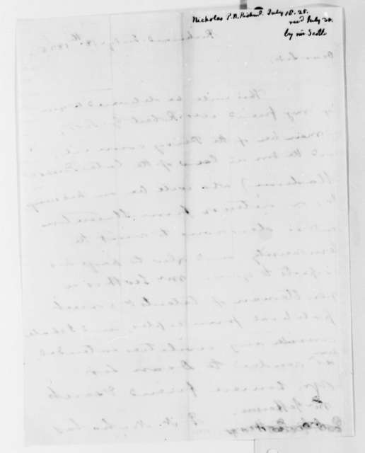 Philip N. Nicholas to Thomas Jefferson, July 18, 1825