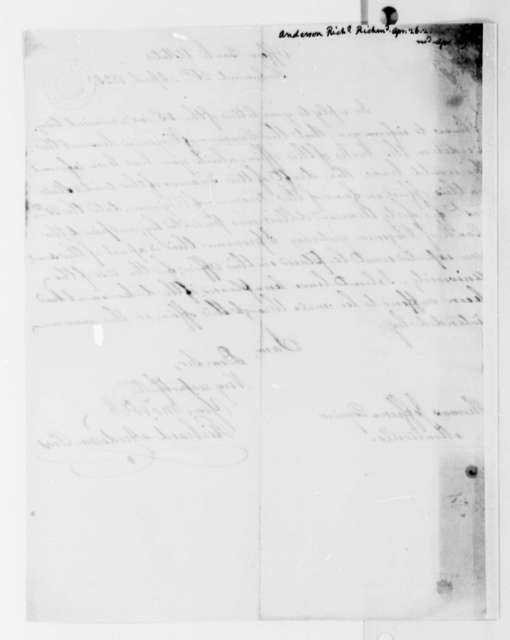 Richard Anderson to Thomas Jefferson, April 26, 1825