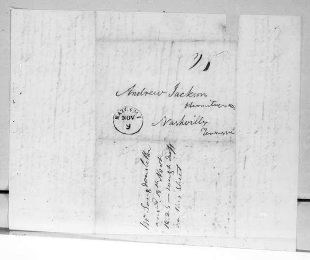 Richard Chester Langdon to Andrew Jackson, November 18, 1825