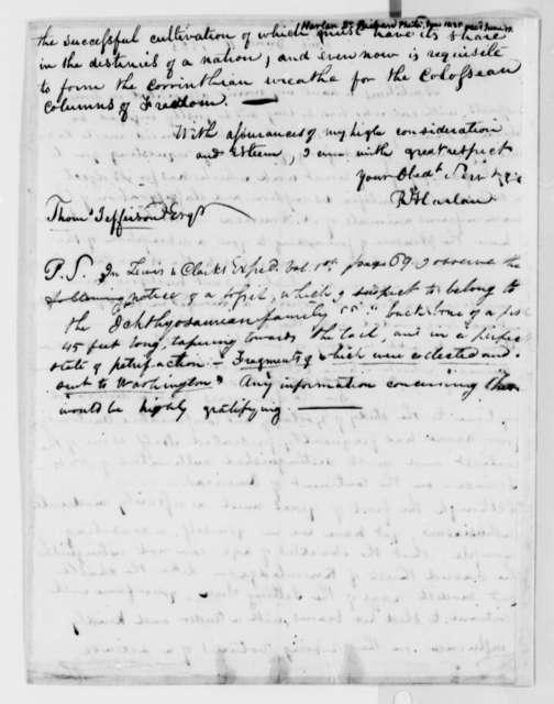 Richard Harlan to Thomas Jefferson, June 10, 1825
