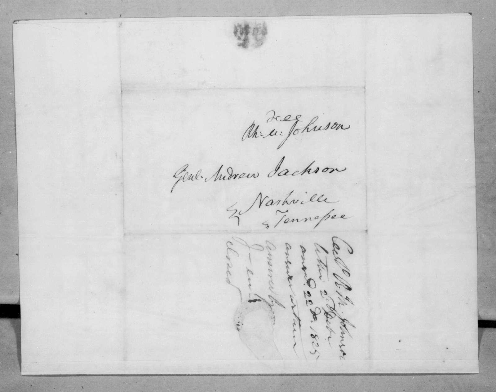 Richard Mentor Johnson to Andrew Jackson, December 2, 1825