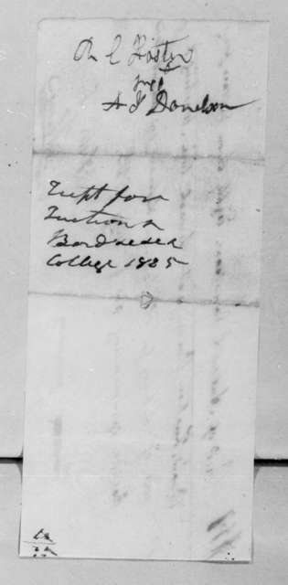 Robert Coleman Foster to Andrew Jackson Donelson, May 4, 1825