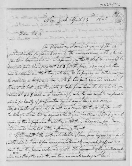Robert Greenhow to Thomas Jefferson, April 23, 1825, with Title Page, Bulletin des Sciences, Mathematiques, Physiques et Chimiques