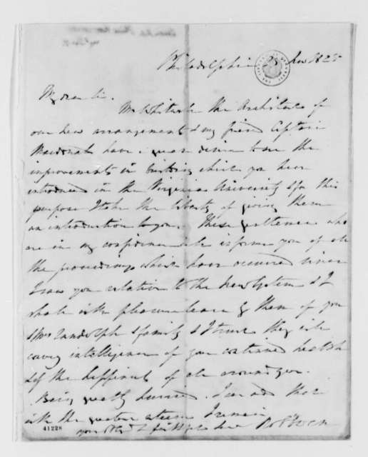 Robert Owen to Thomas Jefferson, November 25, 1825