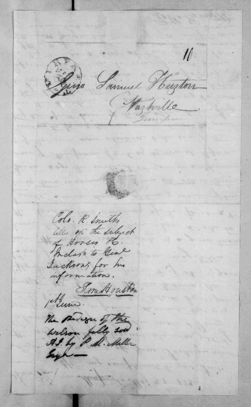 Robert Smith to Samuel Houston, May 29, 1825