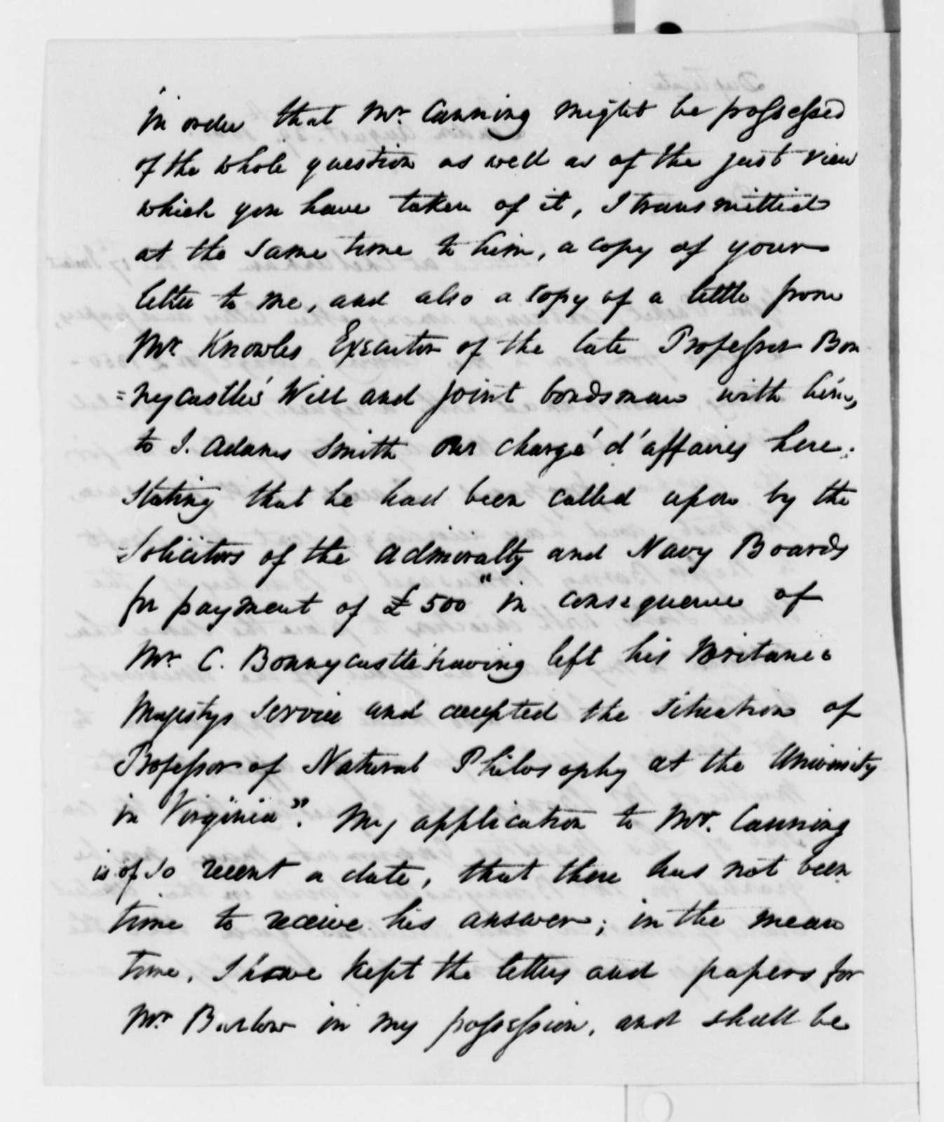 Rufus King to Thomas Jefferson, August 29, 1825