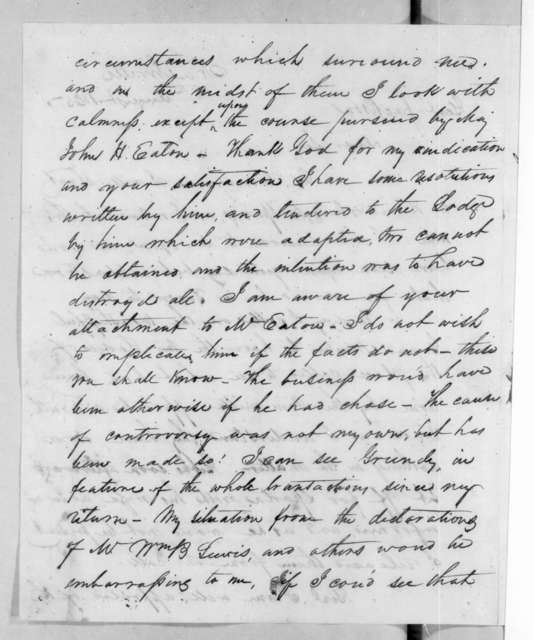 Samuel Houston to Andrew Jackson, August 8, 1825